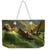 Christ Asleep In His Boat  Weekender Tote Bag by Jules Joseph Meynier