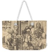 Christ At Emmaus Weekender Tote Bag