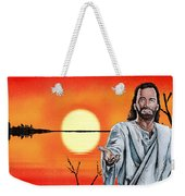 Christ At Sunrise Weekender Tote Bag