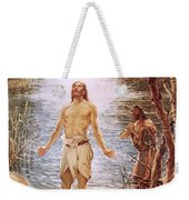 Christ Baptised By John The Baptist Weekender Tote Bag by William Brassey Hole