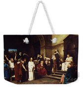 Christ Before Pilate Weekender Tote Bag by Mihaly Munkacsy
