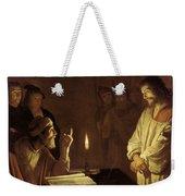 Christ Before The High Priest Weekender Tote Bag by Gerrit van Honthorst