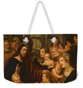 Christ Blessing The Children Weekender Tote Bag