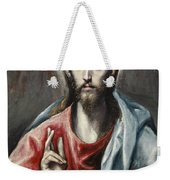 Christ Blessing, The Saviour Of The World Weekender Tote Bag