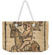 Christ Child On Donkey Weekender Tote Bag