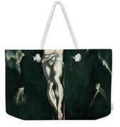Christ Crucified With Toledo In The Background Weekender Tote Bag