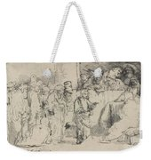 Christ Disputing With The Doctors: A Sketch Weekender Tote Bag