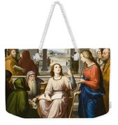 Christ Disputing With The Doctors In The Temple Weekender Tote Bag by Franz von Rohden