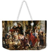 Christ Driving The Merchants From The Temple Weekender Tote Bag