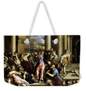 Christ Driving The Traders From The Temple 1576 Weekender Tote Bag