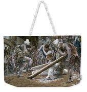 Christ Falls Beneath The Cross Weekender Tote Bag by Tissot