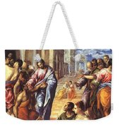 Christ Healing The Blind 1578 Weekender Tote Bag