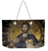 Christ Holds Bible In Mosaic At Chora Church Istanbul Turkey Weekender Tote Bag