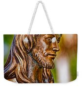 Christ In Bronze Weekender Tote Bag by Christopher Holmes