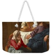 Christ In The House Of Martha And Mary Weekender Tote Bag