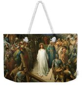 Christ Leaves His Trial Weekender Tote Bag by Gustave Dore