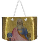 Christ Of The Apocalypse   Central Pinnacle Panel Weekender Tote Bag