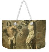 Christ On The Cross And The Good Thief Weekender Tote Bag