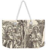 Christ On The Cross Between The Virgin And Saint John Weekender Tote Bag
