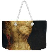 Christ On The Cross Weekender Tote Bag by Matthias Grunewald