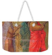 Christ On The Road To Emmaus Fragment 1311 Weekender Tote Bag