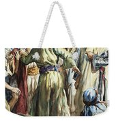 Christ Removing The Money Lenders From The Temple Weekender Tote Bag