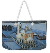 Christ Risen Church In Ples, Ivanovo Region Weekender Tote Bag