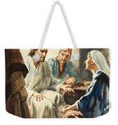 Christ Talking Weekender Tote Bag