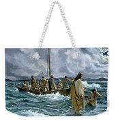 Christ Walking On The Sea Of Galilee Weekender Tote Bag by Anonymous