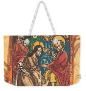 Christ Washing The Feet Of The Apostles Weekender Tote Bag