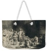 Christ With The Sick Around Him, Receiving Little Children Weekender Tote Bag