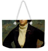 Christian Viasto - A Canal Boat Woman Weekender Tote Bag