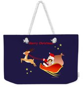 Christmas #3 And Text Weekender Tote Bag