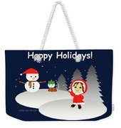 Christmas #6 And Text Weekender Tote Bag