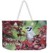 Christmas And Blue Jay Weekender Tote Bag