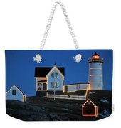 Christmas At The Nubble  Weekender Tote Bag