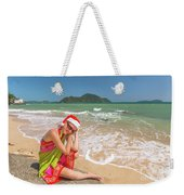 Christmas At Tropics Weekender Tote Bag by Benny Marty