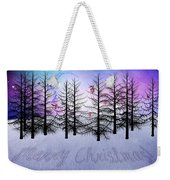 Christmas Bare Trees Weekender Tote Bag