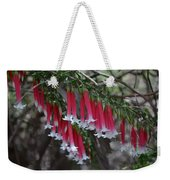 Christmas Bells 1 - Australian Native Fuchsia Weekender Tote Bag
