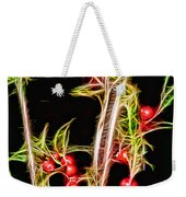 Christmas Berries Weekender Tote Bag