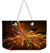 Christmas Bike Abstract Weekender Tote Bag