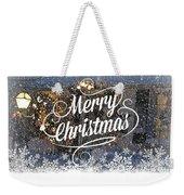 Christmas Blizzard Weekender Tote Bag