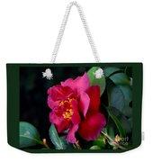 Christmas Camellia Weekender Tote Bag