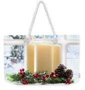 Christmas Candles Display Weekender Tote Bag