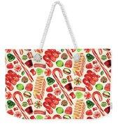 Christmas Candy Weekender Tote Bag