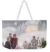 Christmas Card Weekender Tote Bag by Daphne Allan
