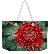 Christmas Chrysanthemum Weekender Tote Bag