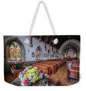 Christmas Church Flowers Weekender Tote Bag