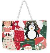 Christmas Collage Weekender Tote Bag
