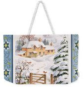 Christmas Cottage Weekender Tote Bag